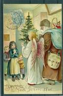 Relief - Gaufrée - Embossed - Prage - Père Noël - TBE Précurseur - Santa Claus