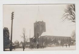 Ertvelde  Evergem  FOTOKAART Van De Kerk En Omgeving In De Sneeuw (1923) - Evergem