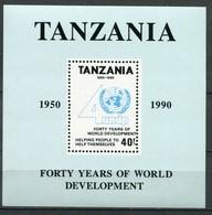 Tansania Mi# Block 160 Postfrisch MNH - UNDP - Tansania (1964-...)