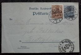 DR 1901, Postkarte MiF EISENACH Gelaufen BIETIGHEIM - Ganzsachen