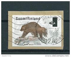 1995 Finland ATM,automaatstrook ''gulo Gulo'' Op Fragment Used/gebruikt/oblitere - Viñetas De Franqueo (ATM/Frama)