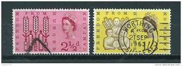 1963 England Complete Set Freedom From Hunger Used/gebruikt/oblitere - 1952-.... (Elizabeth II)