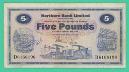 5 Livres - Irlande - 1/04/1982 - N° D6168198 - TTB - - Irlanda