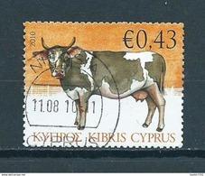 2010 Cyprus Cow,koe,animals Used/gebruikt/oblitere - Usados