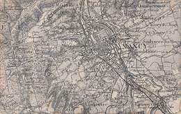 Nancy (54) Carte Géographique De NANCY Et Ses Environs : Vandoeuvre Maxeville Malzeville Laxou Etc.. - Nancy
