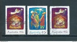 2002 Australia Complete Set Christmas,kerst,noël,weihnachten Used/gebruikt/oblitere - 2000-09 Elizabeth II