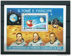 1980 S.Tome E Principe Complete M/Sheet Space,ruimtevaart,moonlanding Used/gebruikt/oblitere - Space