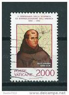 1992 Vaticaan 2000L. Discovery Of America Used/gebruikt/oblitere - Gebruikt