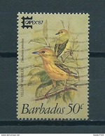 1987 Barbados Birds,oiseaux,vögel 50 Cent,Capex Used/gebruikt/oblitere - Barbades (1966-...)