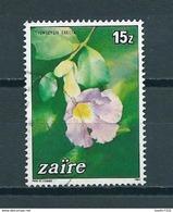 1984 Zaïre Flowers,bloemen Used/gebruikt/oblitere - Zaïre