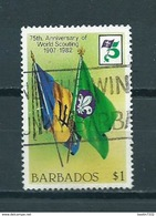 1982 Barbados Scouting Used/gebruikt/oblitere - Barbados (1966-...)