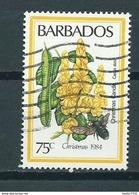 1984 Barbados Christmas,kerst,flowers Used/gebruikt/oblitere - Barbades (1966-...)