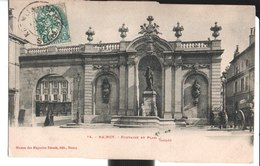 14. Nancy. Fontaine Et Place Callot. à Melle Suzanne Gergeaud à Kremlin Bicêtre. 1904. - Nancy
