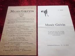 1945  MUSÉE GREVIN Bd MONTMARTRE 2 DÉPLIANTS PUBLICITAIRE ACTUALITÉ NAPOLÉON-VIE JÉSUS-CINÉMA 1ER ÉTAGE PALAIS MIRAGES - Documenti Storici