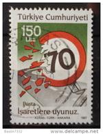 1987 Turkey Traffic Safety,150L. Used/gebruikt/oblitere - 1921-... Republiek