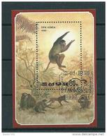 1992 Noord-Korea Complete M/Sheet Affen,monkeys,apen Used/gebruikt/oblitere - Apen