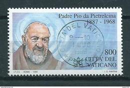 1999 Vaticaan Padre Pio Used/gebruikt/oblitere - Gebruikt