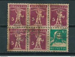 Switserland Blokje Van 6,booklet Stamps Used/gebruikt/oblitere - Booklets