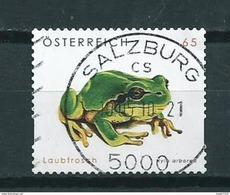 2008 Austria Frog,kikker,frosch Used/gebruikt/oblitere - 2001-10 Afgestempeld