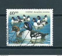 1996 Iceland Ente, Birds,oiseaux,vögel Used/gebruikt/oblitere - 1944-... República