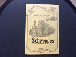 PROGRAMME Spectacles De Paris  COGNAC COURVOISIER SCHWEPPES INDIAN TONIC DUMESNIL OBER PILS Annee 1955 - Programmes
