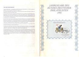 Jahresgabe Des Bundes Deutscher Philatelisten, Tag Der Briefmarke, Bonn 1995 (91116) - [7] República Federal