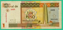 1 Peso - Cuba - N° AA-05 60348 - 1994 - TTB  - - Cuba