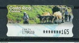 Costa Rica ATM,Frama,automaat Label,strook Used/gebruikt/oblitere - Costa Rica