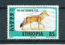 1994 Ethiopia Fox,animals,dieren,tiere Used/gebruikt/oblitere - Ethiopie