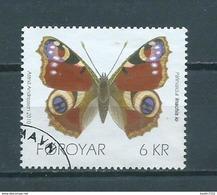 2010 Faroër 6 Kr. Butterfly,schmetterlinge,papillon Used/gebruikt/oblitere - Islas Faeroes
