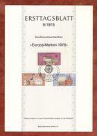 Ersttagsblatt, Europa Gebaeude, Bonn 1978 (91117) - [7] Federal Republic