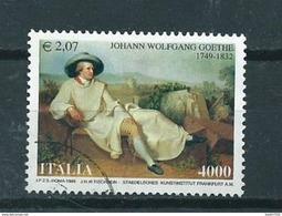 1999 Italy Von Goethe 2,07 EURO/4000 Lire Used/gebruikt/oblitere - 1946-.. République