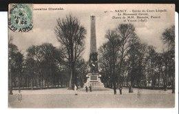 41. Nancy. Entrée Du Cours Léopold. Le Monument Carnot. De L. Drot Soldat 69°, 7° Cie à M. Et Mme Lacanal à Paris. 1906 - Nancy