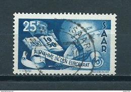 1950 Saar 25F. Europarat Used/gebruikt/oblitere - Usados
