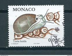 2002 Monaco Snail,animals,dieren,tiere,nature Used/gebruikt/oblitere - Oblitérés