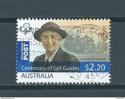 2010 Australia $2.20 Girl Guides,scouting,Baden-Powell Used/gebruikt/oblitere - 2010-... Elizabeth II