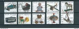 2008 Belgium Complete Set Children Toys Booklet Stamps Used/gebruikt/oblitere - Belgique