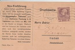 Autriche Entier Postal Privé 1910 - Entiers Postaux