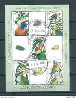2005 Australia Complete M/Sheet Parrots,birds,oiseaux,vögel Used/gebruikt/oblitere - Blocs - Feuillets