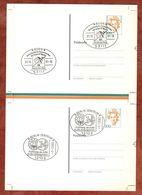 Privatpostkarte, Schwarzhaupt, Druckform?, Je SoSt Bonn + Berlin, 2001 + 2002 (91119) - [7] Federal Republic