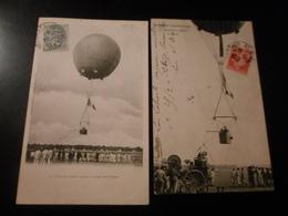 LOT DE 9 CPA / LES BALLONS DOBSERVATION - CASERNE DES AEROSTIERS - 5 - 99 Karten