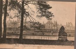 France & Circulated, Palais De Fontainebleau Vue Prise Du Breau, Paris A Lisboa 1912 (675) - Monuments