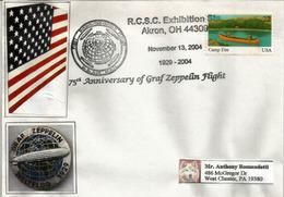 USA. Graf Zeppelin Round-the-world Flight (1929). 75th Anniversary Commemoration.Letter,Akron.Ohio - Zeppelins