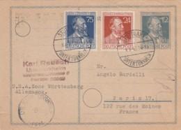 Allierter Besetzung Postkarte 1947 Zensur - Deutschland