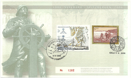 Norway 2006 Souvenir Card Svalbard - Spitzbergen 1906-2006 - Monaco 10 IV 2006 And Norway 9.6.2006 - Briefe U. Dokumente