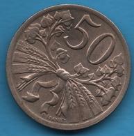CESKOSLOVENSKA 50 HALERU 1931KM# 2 - Czechoslovakia