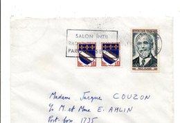 AFFRANCHISSEMENT COMPOSE SUR LETTRE DE PARIS 1965 - Marcophilie (Lettres)