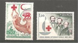 MONACO 1963 Y T N °607/608 Neuf** Croix Rouge - Mónaco