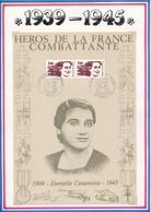 FRANCE - BEAU DOCUMENT DANIELLE CASANOVA 1909-1943 PARIS AJACCIO HOMMAGE A LA FEMME HEROS FRANCE COMBATTANTE - Guerre Mondiale (Seconde)