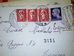 LETTERA LUOGOTENENZA  ESPRESSO  1+2 LIRE 3 Pezzi IMPERIALE SENZA FASCI  BORGOSESIA  X TORINO 24\11\1945 HK4946 - 5. 1944-46 Luogotenenza & Umberto II